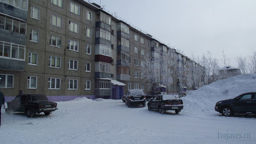 Фото города Инта №3510  Двор (восточная сторона дома) Морозова 10 10.02.2013_12:07