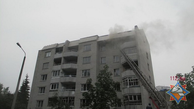 В Могилёве горел дом ветеранов