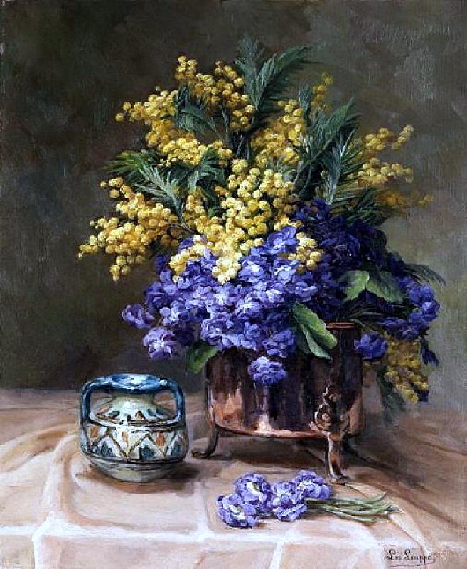 Leo Louppe. Floral Still Life, 1869