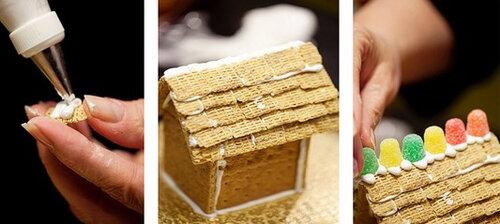 Как сделать домик из печенья 5