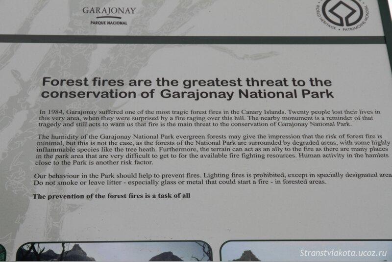 Остров Ла Гомера Национальный парк Гарахонай