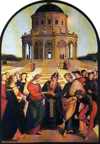 Картины старых мастеров. Рафаэль, Обручение Марии