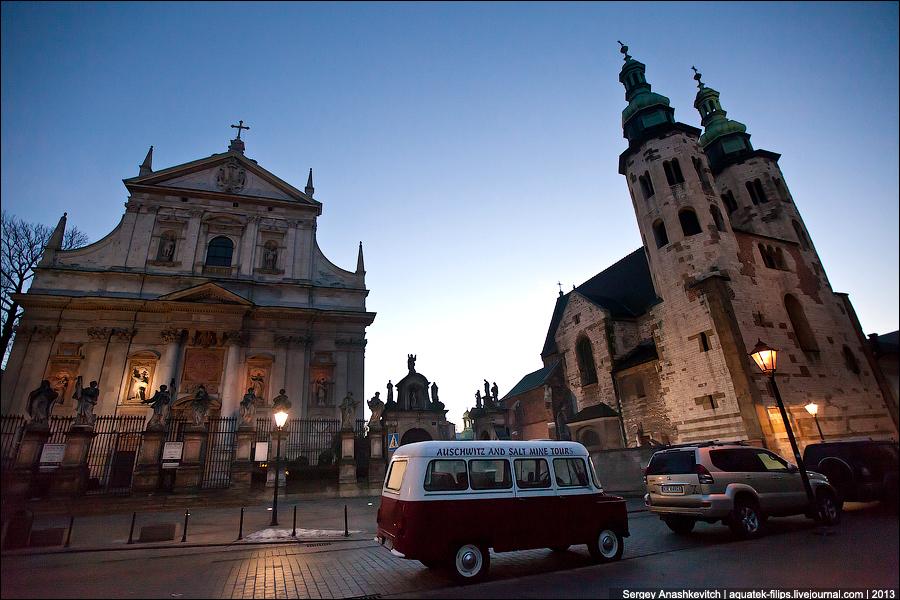 Рассвет в Кракове