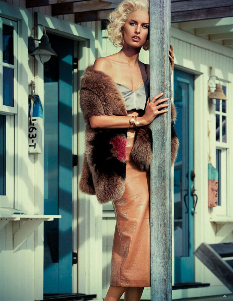 Karolina Kurkova / Каролина Куркова, фотограф Giampaolo Sgura / Vogue Germany april 2013