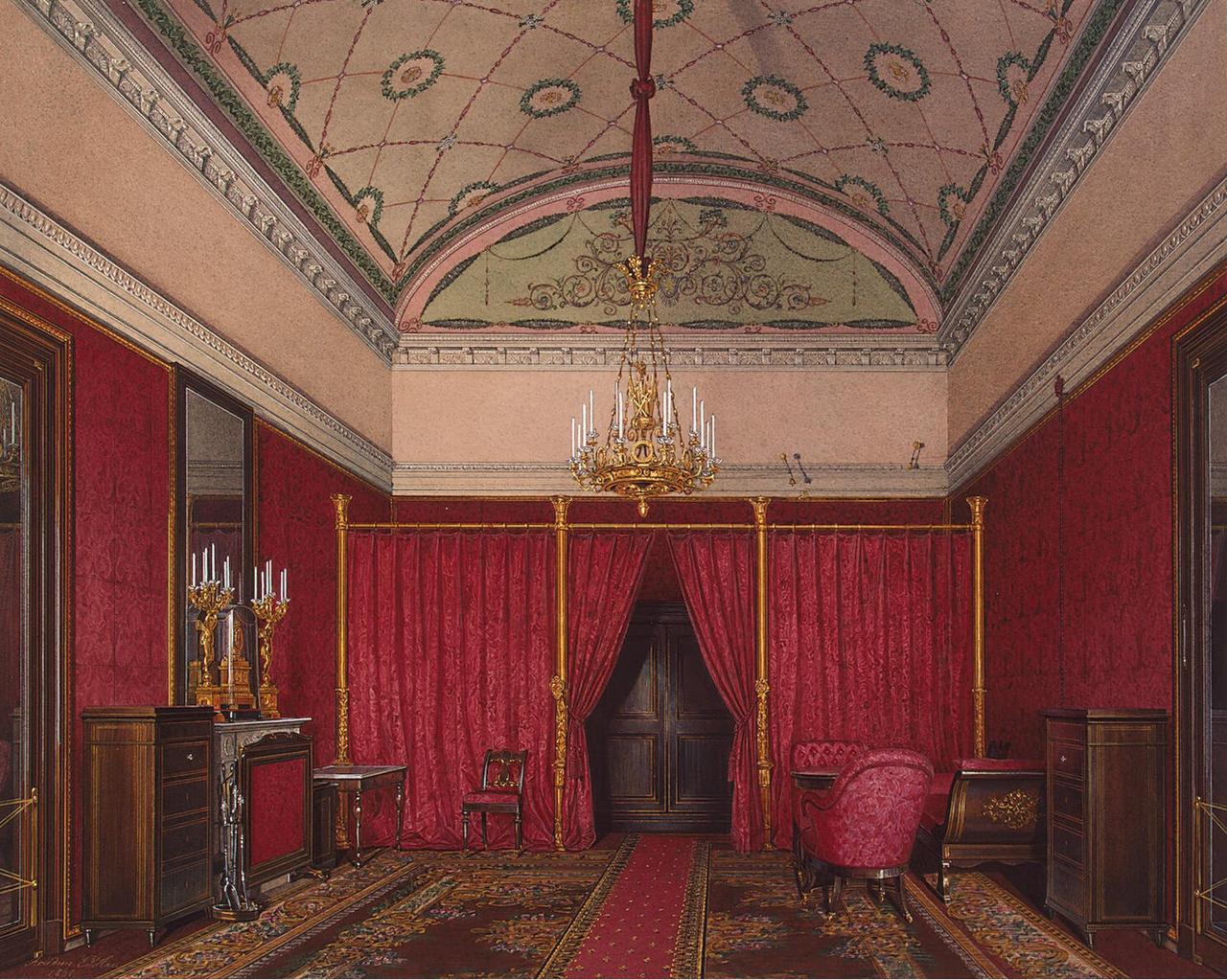 Интерьеры Зимнего дворца. Гардеробная комната великой княжны Марии Николаевны
