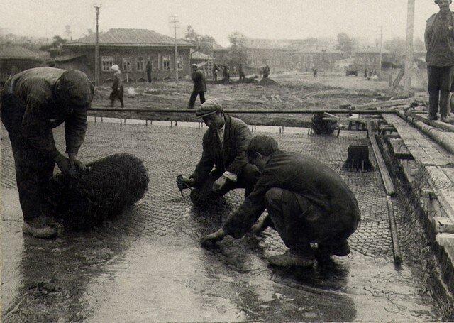 Устройство защитного слоя по изоляции. Август 1936г.