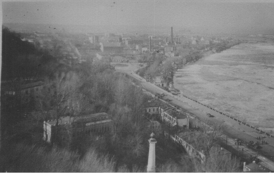 1950-е. панорама Подола и Днепра. Фото: Огарков В.М.
