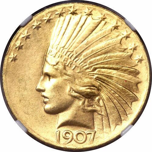 1907 $10 Wire Rim