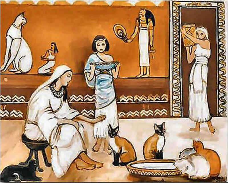 Почитание кошек в Египте.