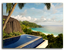 Сейшелы. О. Маэ. Banyan Tree Seychelles. Guest Room Intendance Pool Villa Pool View