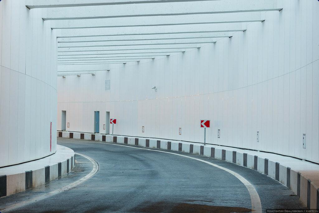 Открытый участок тоннеля перед Рязанским проспектом