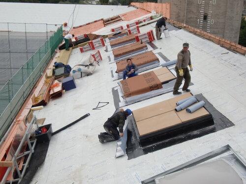 Возведение крыши из меди