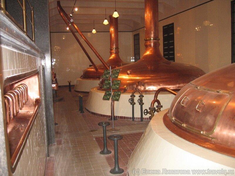 Котлы в варочном цехе Pilsner Urquell