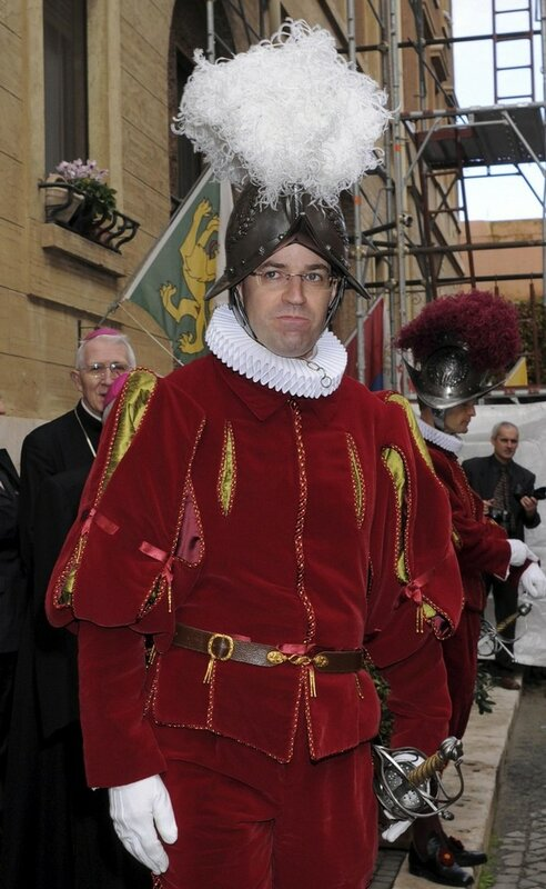 File photo of Swiss Guards' new Commandant Anrig attending his swearing-in ceremony at Vatican