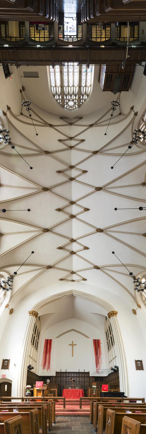 Своды храмов Нью-Йорка. Фотограф Richard Silver. 9 головокружительных панорам