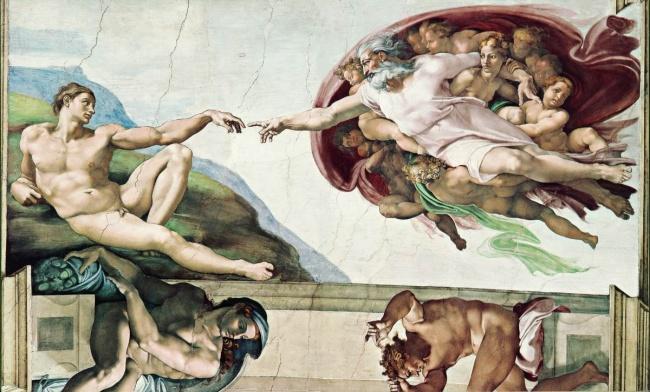 Микеланджело, «Сотворение Адама», 1511 Пара американских экспертов вобласти нейроанатомии считают,