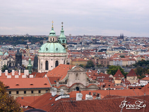 Вид с Пражского Града, костёл Св. Микулаша