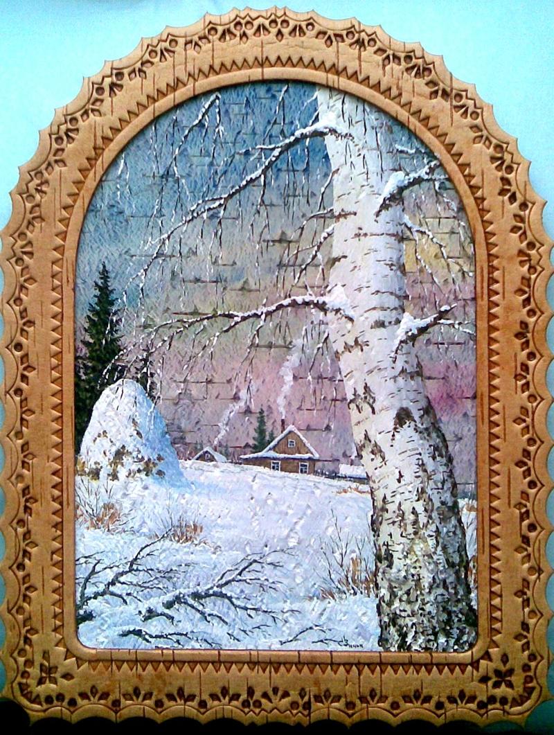 0 b6013 4b3d4475 orig  Пейзажи на бересте художника Сергея Зинина