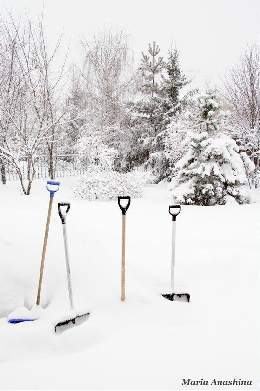 И лопаты засыпает снег...