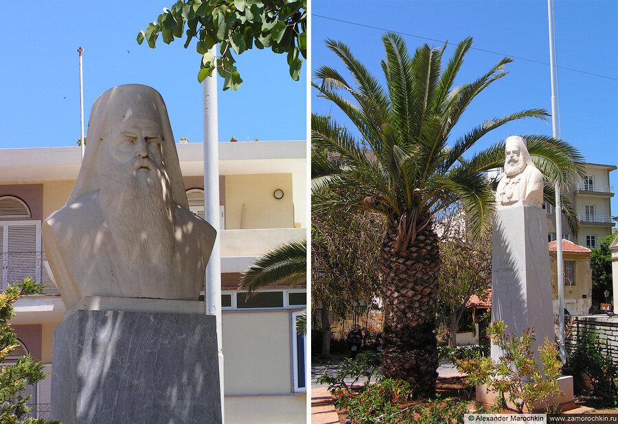 Скульптурные портрет рядом с собором Святого Мины