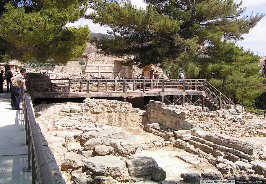В Кносском дворце на Крите, Греция