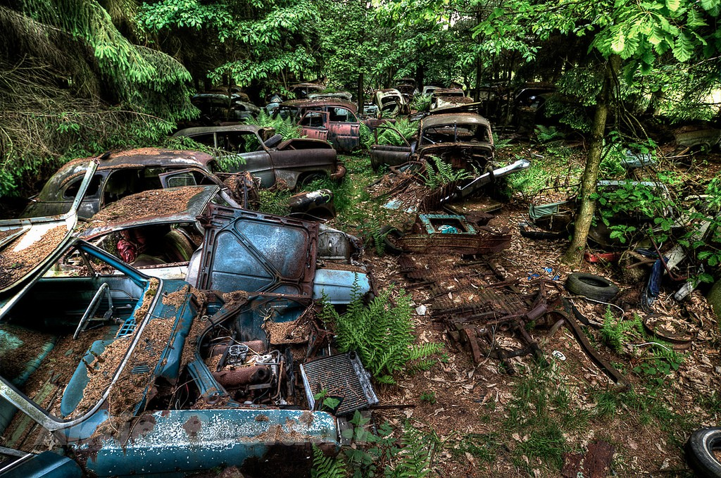 кладбища автомобилей фото