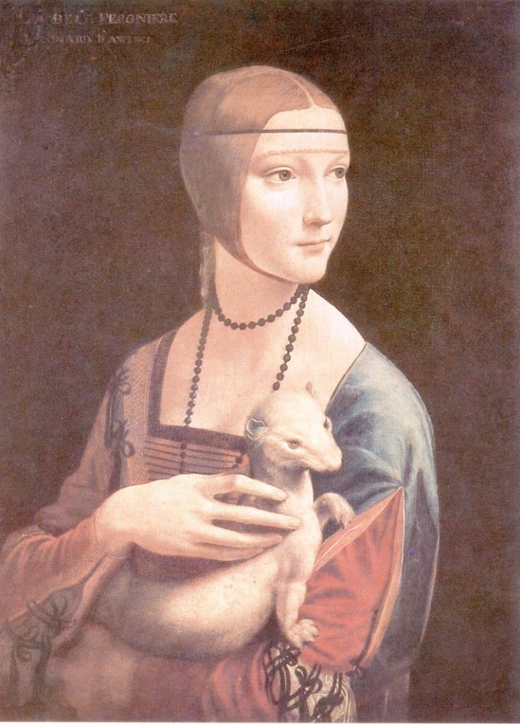 Картины старых мастеров, Леонардо да Винчи, Дама с горностаем