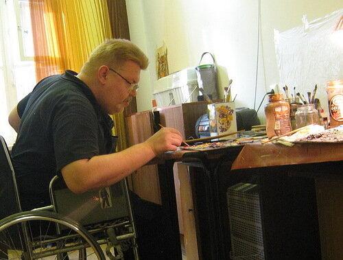 Игорь Сабиров за работой