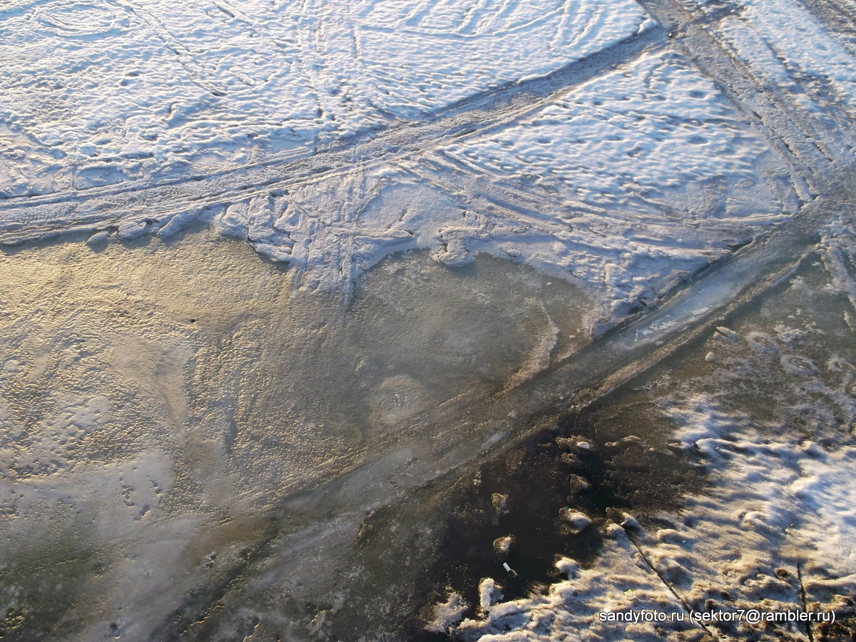 3 апреля, состояние льда на реке в Троицке