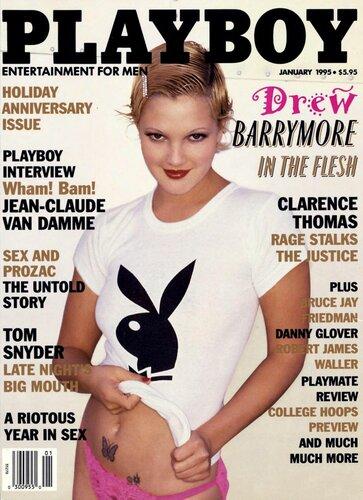 Drew Barrymore / Дрю Бэрримор голая в Playboy USA, январь 1995