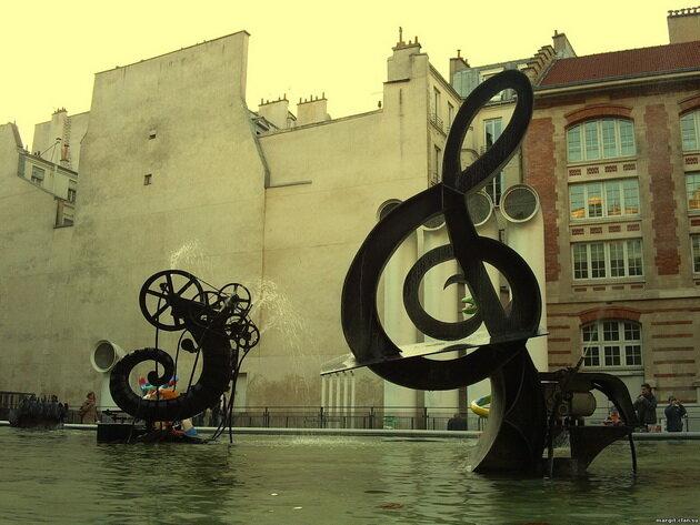 Фонтан Стравинского. Париж