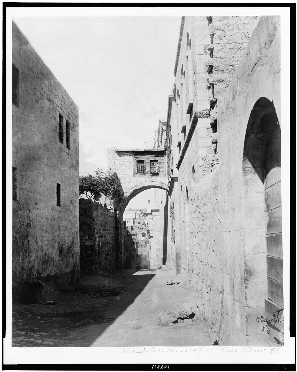 Виа Делароса. Арка Эссе Хомо, 1870-е гг.