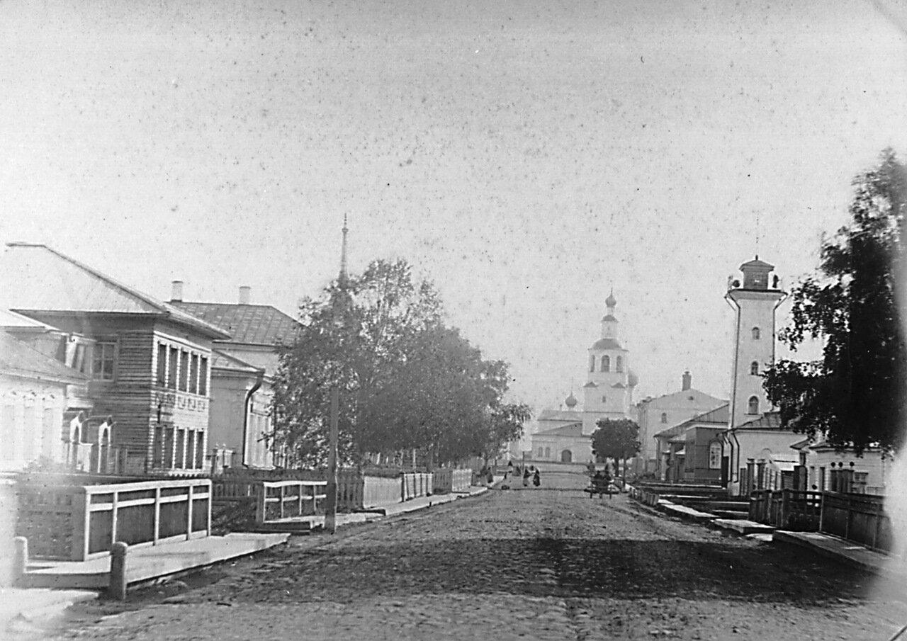 Малая Духовская улица, 1-ая полицейская часть и Спасо-Всеградский собор