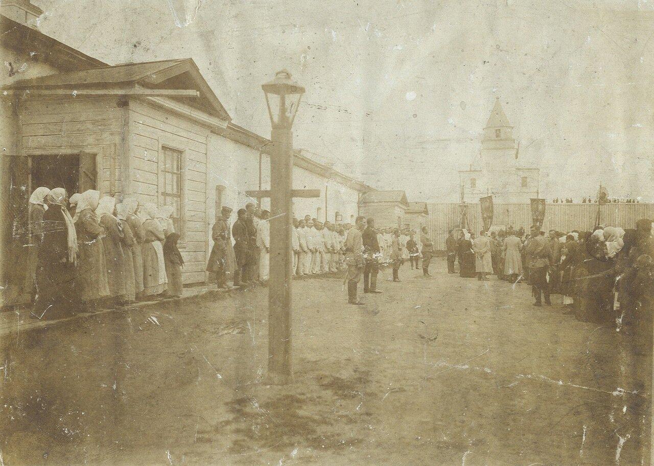 Молебен в крепости 1910г.