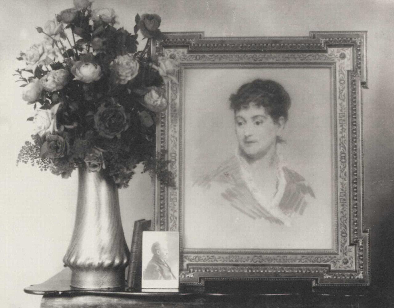Натюрморт с портретом Александрины работы Мане