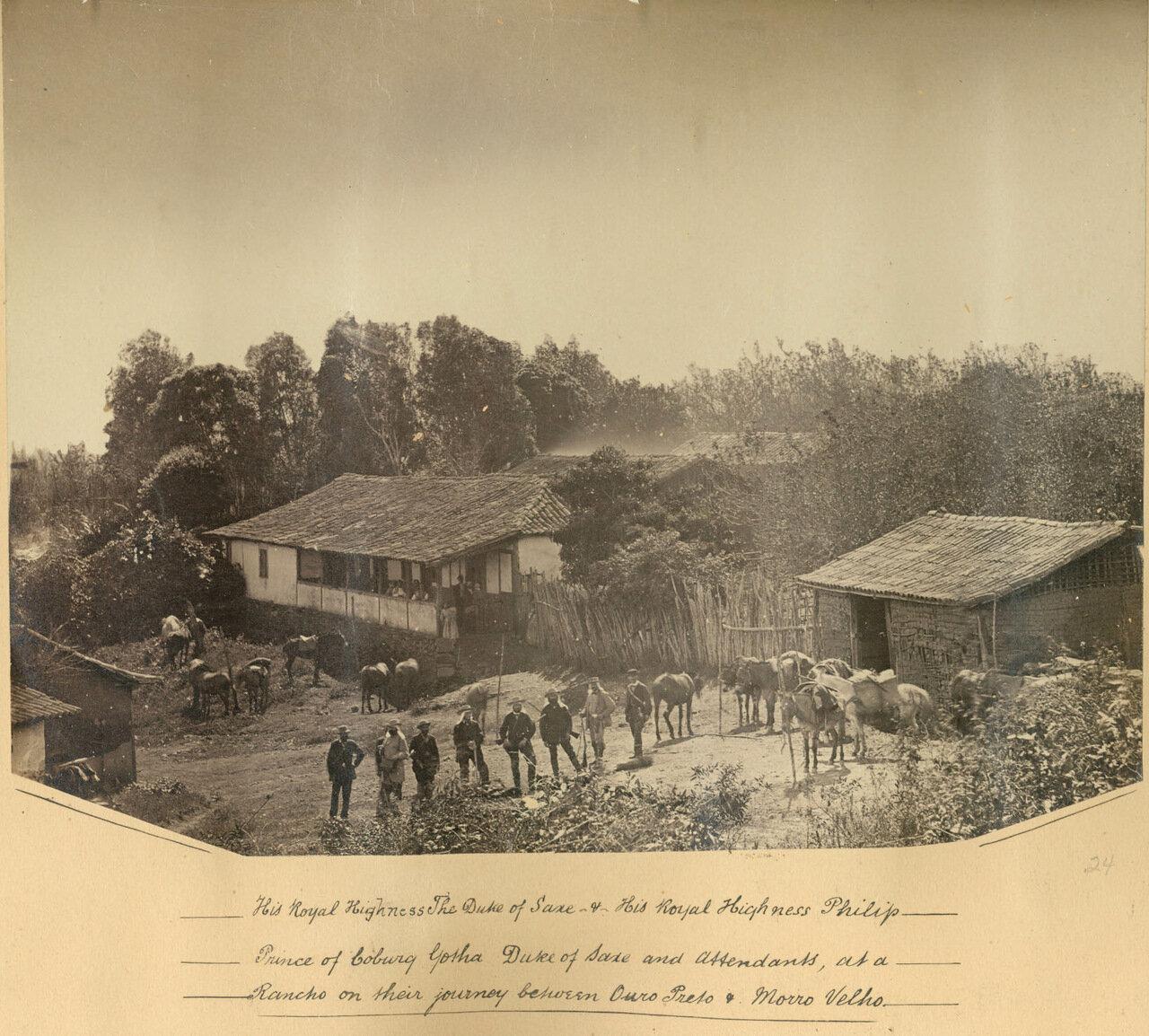 Члены британской королевской семьи посетили шахту по добыче полезных ископаемых Морру-Велью, ок. 1893 года