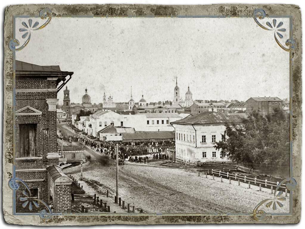 Вид в сторону центра города с московской улицы, 1880 год