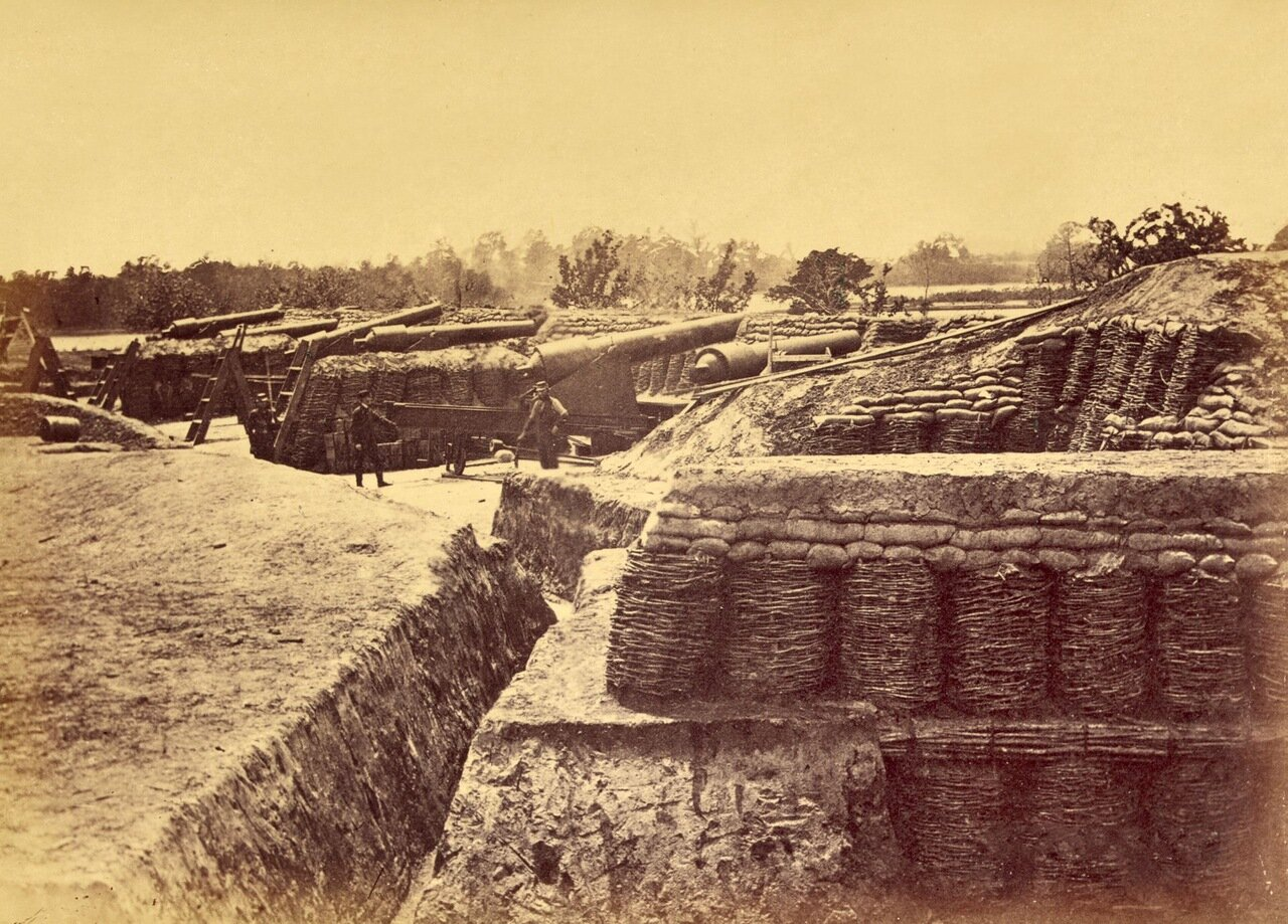 Батарея № 1 возле Йорктауна, штат Вирджиния. Май 1862 г.
