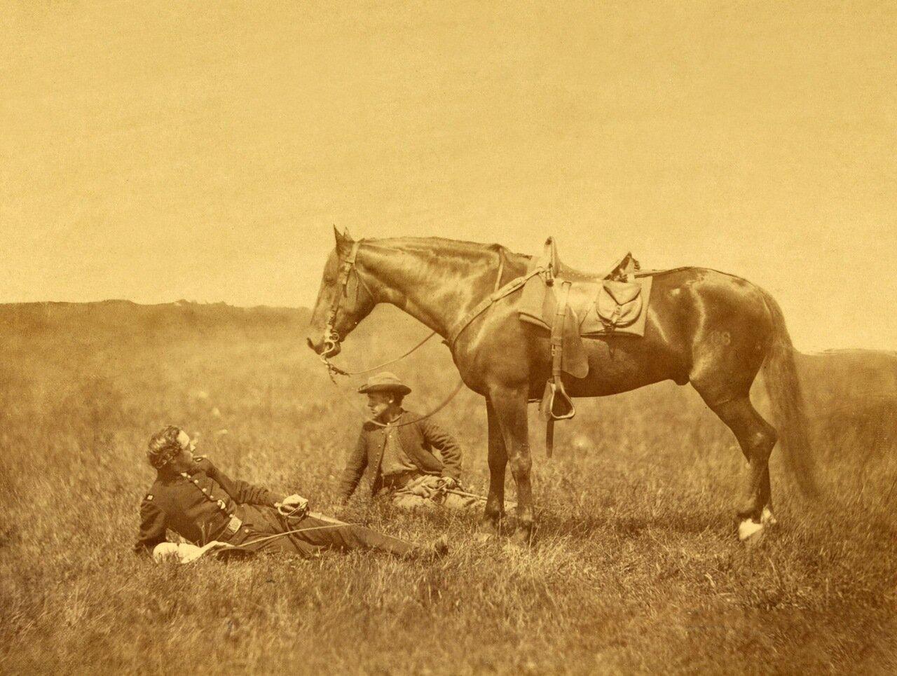 Бивуак, сцена возле Калпепера. Вирджиния. Май 1864 г.