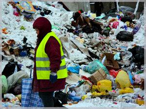 Кучи мусора в Бельцах растут быстрее, чем сугробы
