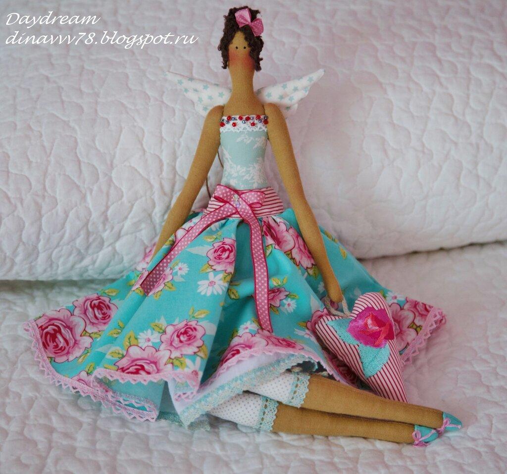 Платье для куклы тильда своими руками очень легкий способ