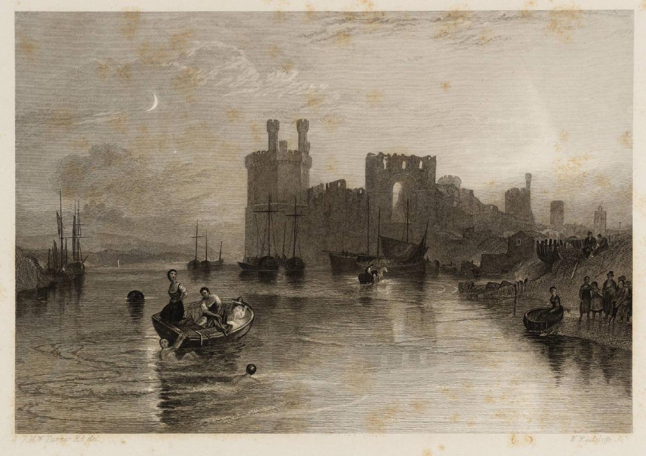 Caernarvon Castle, Wales 1835 by Joseph Mallord William Turner 1775-1851
