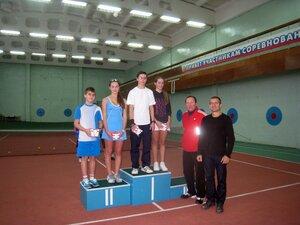Рождественский теннисный турнир среди школьников в парном разряде на призы спортивного клуба «СЕНСОР»