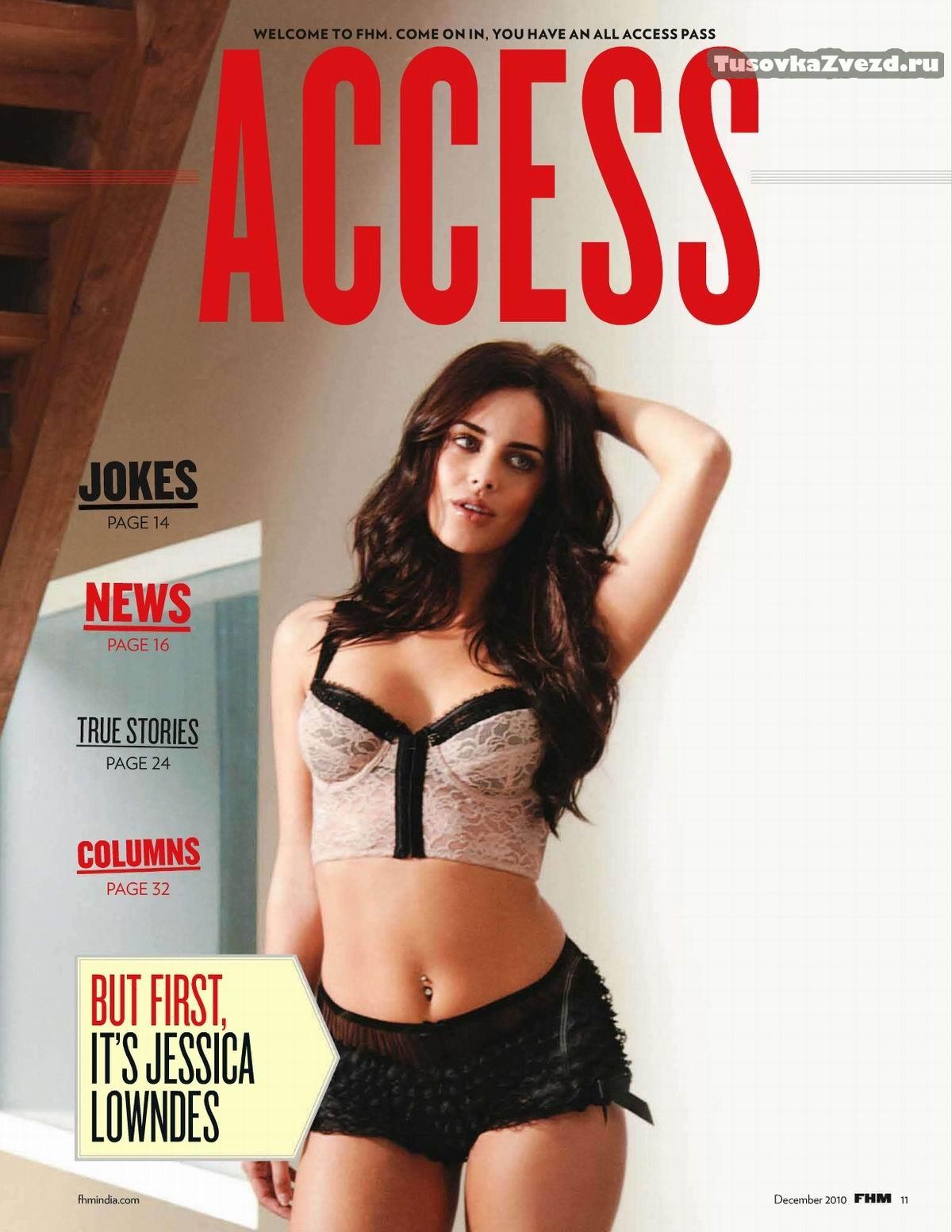 Джессика Лаундес (Jessica Lowndes) фото в журнале FHM Индия, декабрь 2010