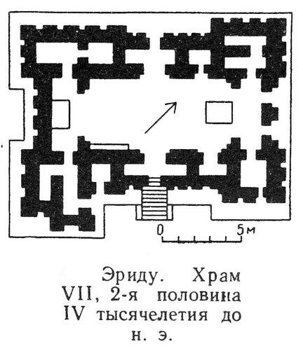 Храм в Эриду, план