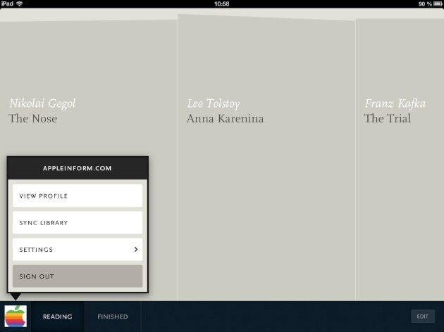 Readmill для iPhone и iPad