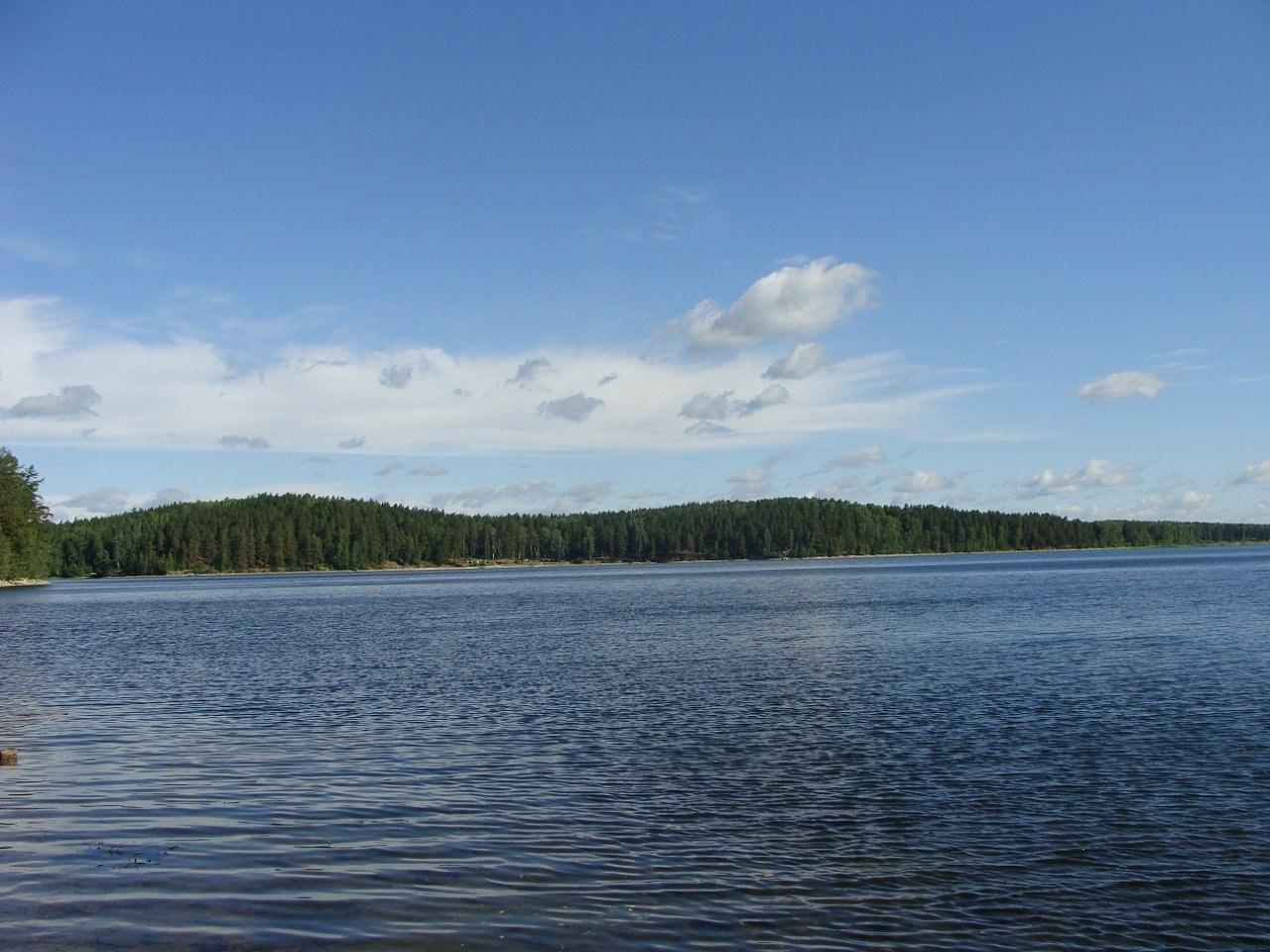 Вид на западный берег озера Аракуль (07.03.2013)
