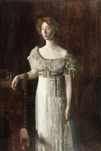 Музей искусств Филадельфии: Thomas Eakins, American, 1844-1916 -- The Old-Fashioned Dress (Portrait of Helen Montanverde Parker)