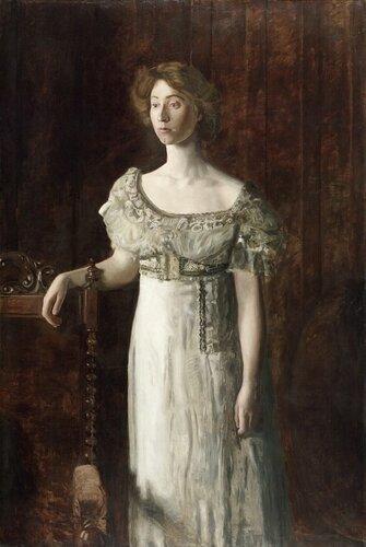 Музей искусств Филадельфии: Thomas Eakins, American, 1844-1916 -- The Old-Fashioned Dress (Portrait of Helen Montanverde Parker)