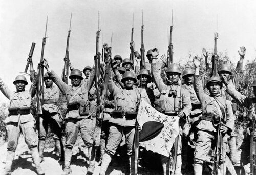 Japanese Troops Near Nanjing, China